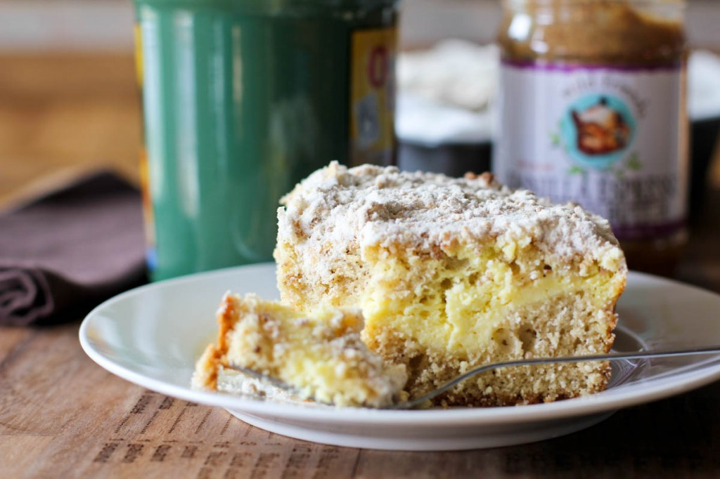 Vanilla Espresso Almond Butter and Cream Cheese Coffee Cake