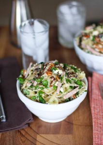 Ham Blue Cheese and Bow Tie Pasta Salad