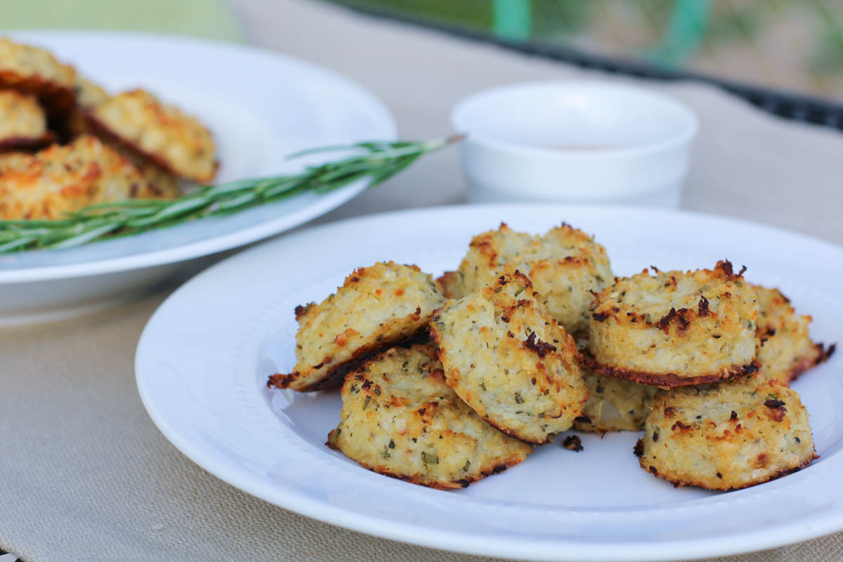 Parmesan and Rosemarry Cauliflower Tots