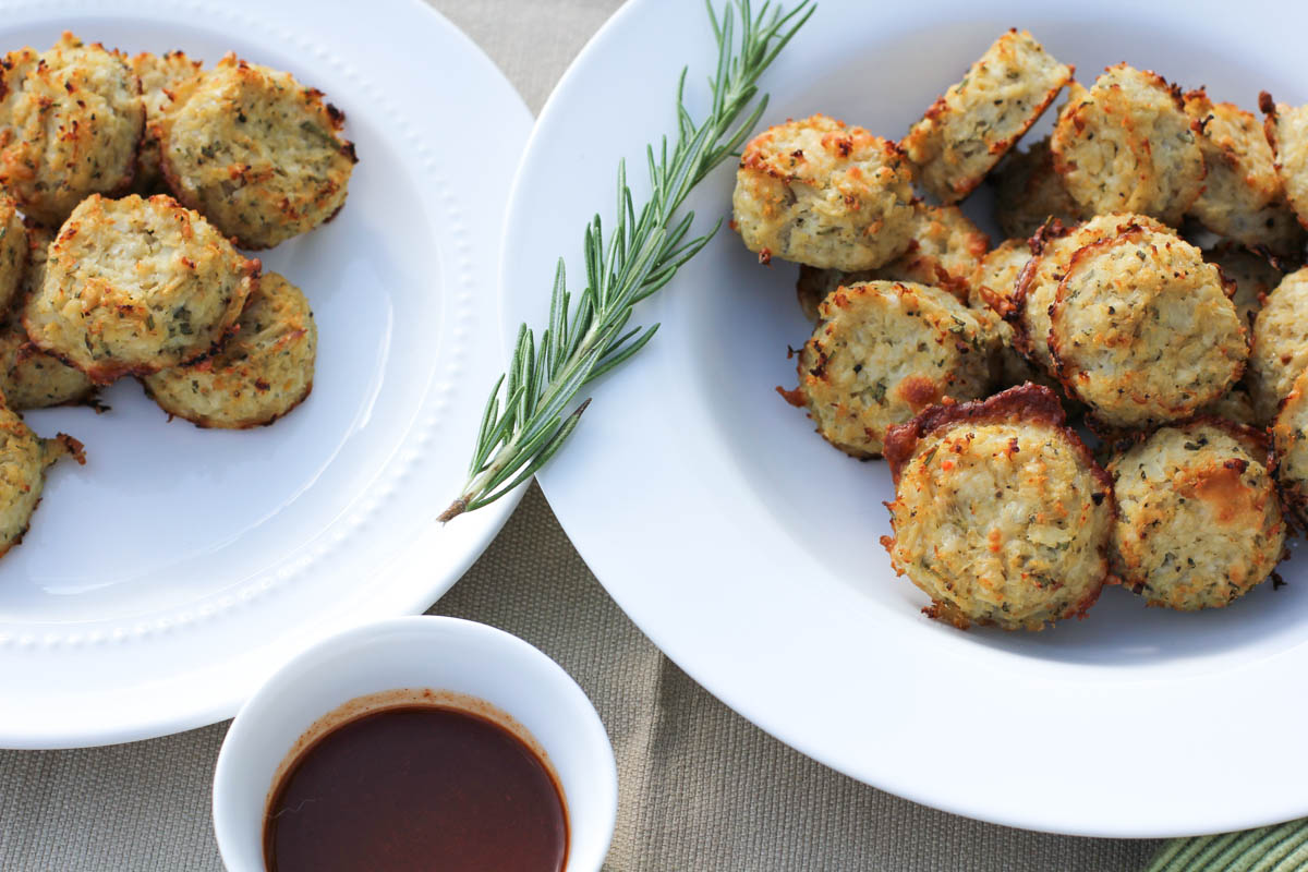 Parmesan and Rosemarry Cauliflower Tots(new)