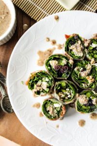 Elegant Rolled Salad Bites with a Toasted Pecan Vinaigrette