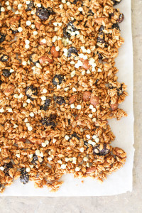cherry almond and maple-cinnamon granola