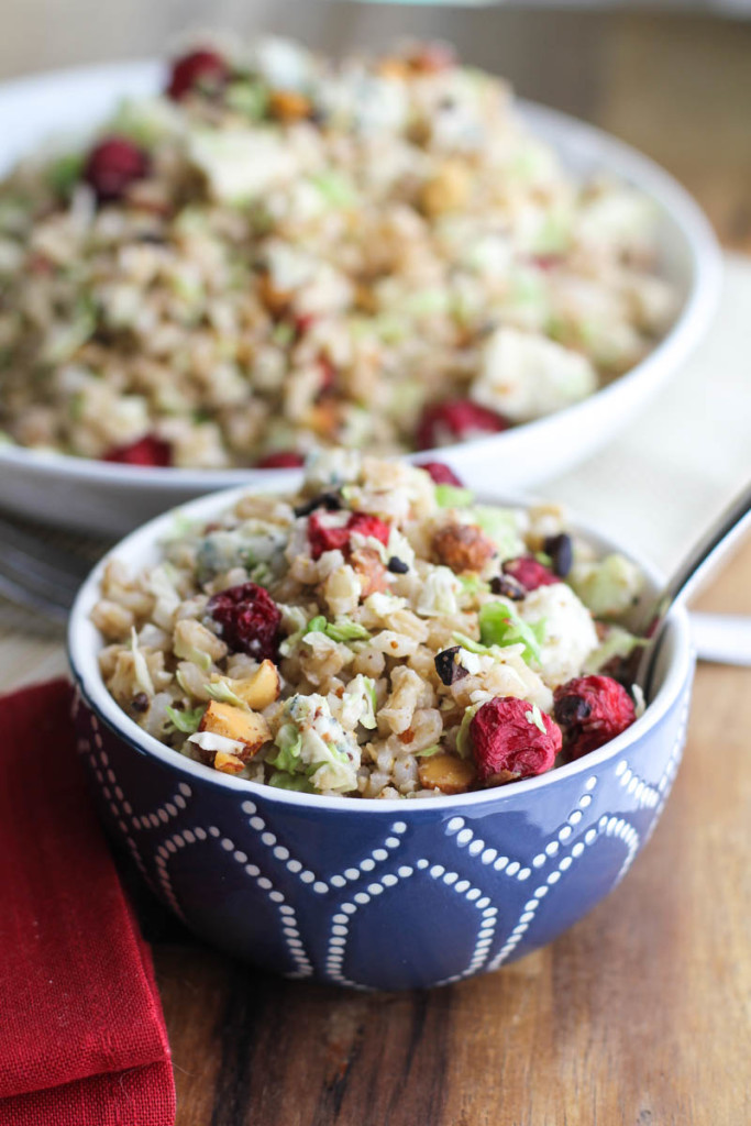 Barley and Brussels Sprouts Salad