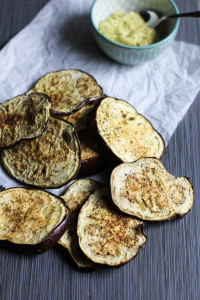 Baked Eggplant Chips