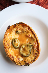 Twice Baked Spicy Spaghetti Squash