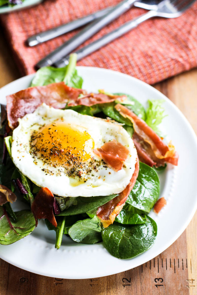 Maple Prosciutto Breakfast Salad